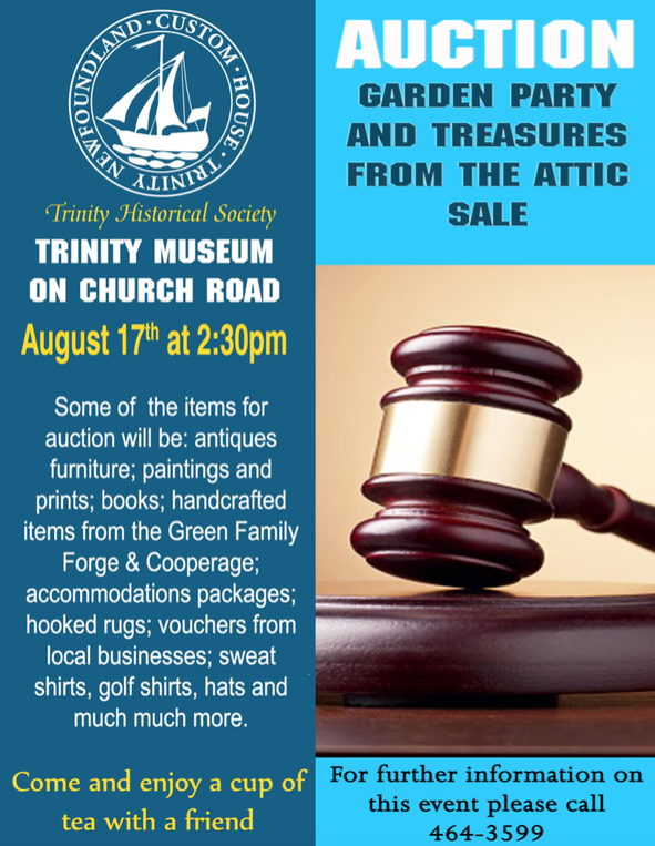 Trinity Historical Society Auction and Garden Party! | Mills